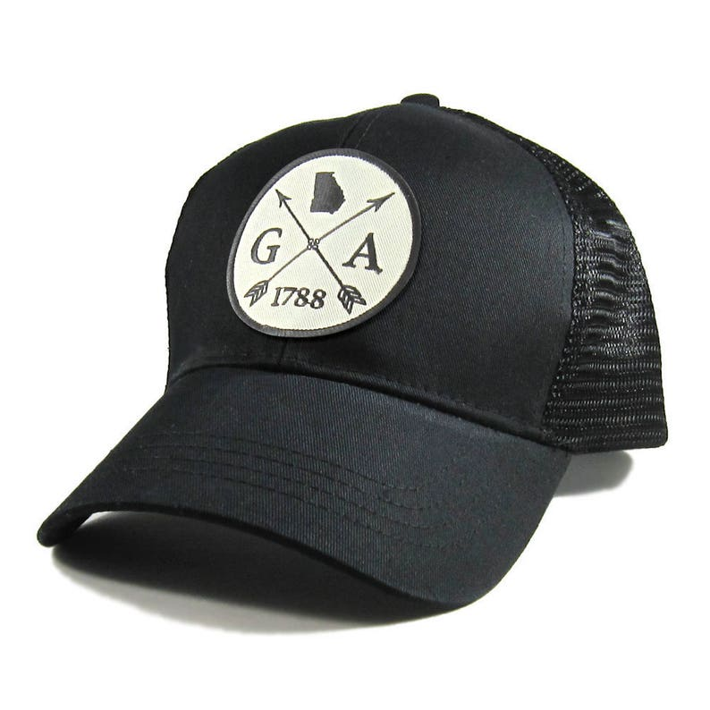 dba3d1815c4 Homeland Tees Georgia Arrow Hat All Black Trucker