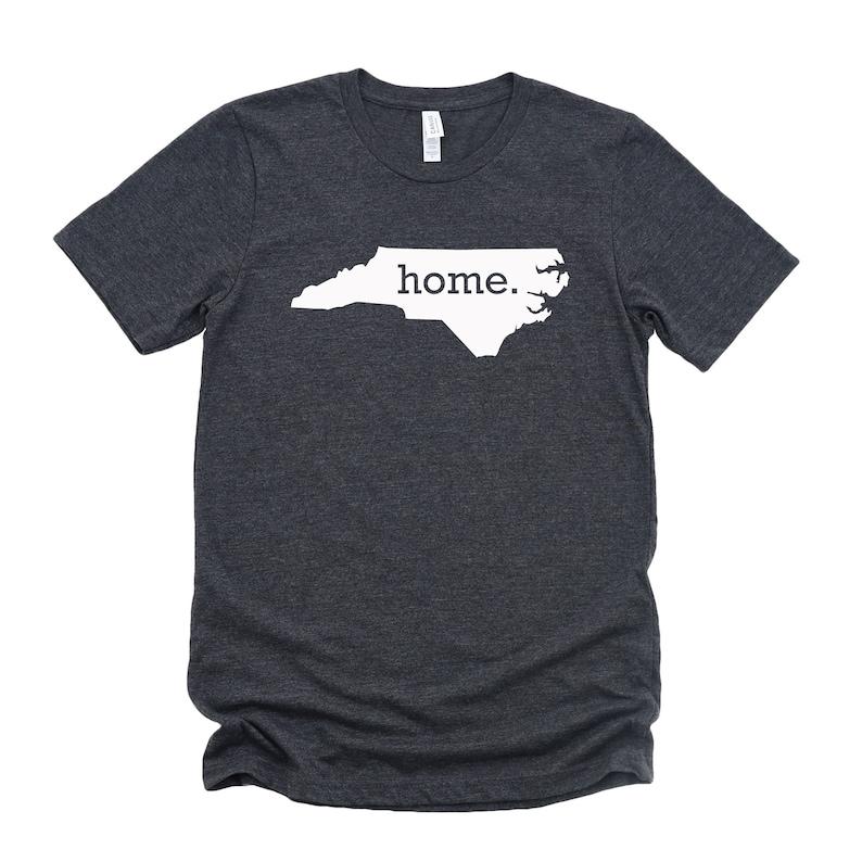 Homeland Tees North Carolina Home State T-Shirt  Unisex image 0