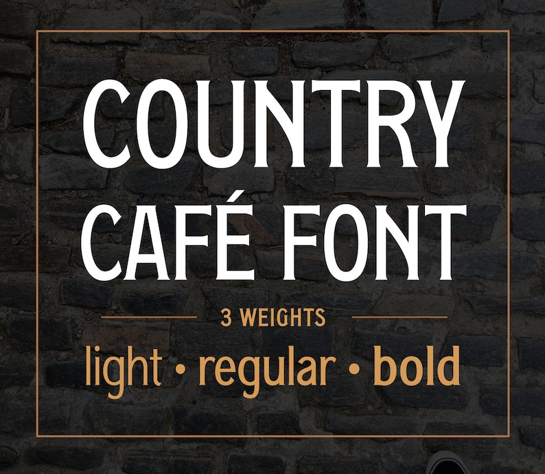 Country Cafe font family  Light Regular Bold with lowercase image 0