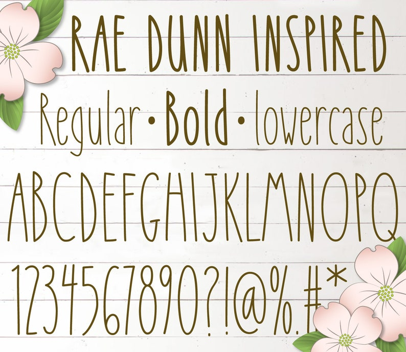Cami Rae Font  Regular & Bold  numbers  lowercase  OTF and image 0