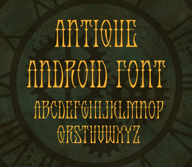 Antique Android font  OTF image 0