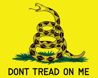 Dont tread on me - Gadsden flag - SVG & AI vector download with various options