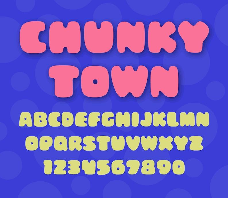Chunky Town font  OTF TTF image 0