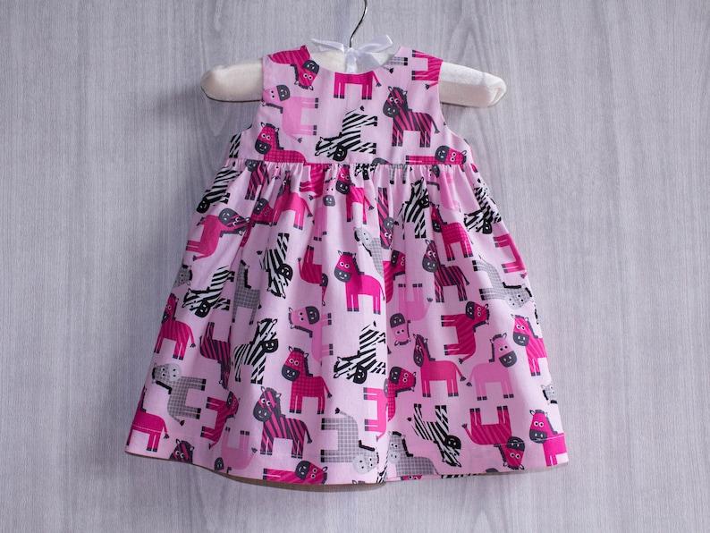 Infant Dress Toddler Dress Newborn Dress Zebra Baby Girl Dress