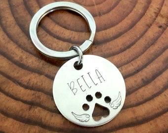 Custom Personalized Pet Memorial Keychain