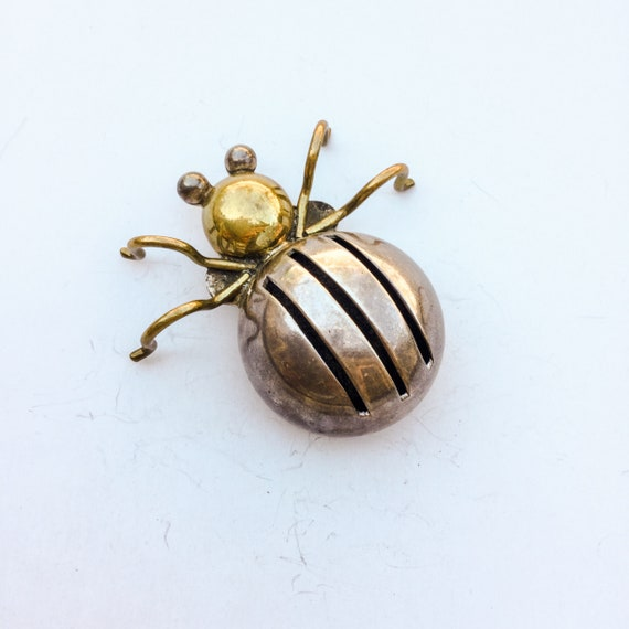 Sterling Spider Brooch. Sterling silver Taxco Pin