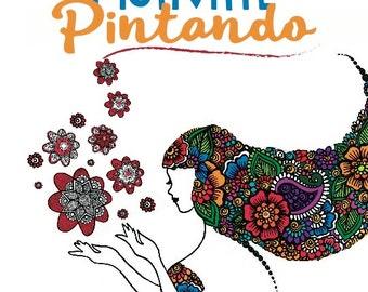 MV Libro de Colorear para Adultos Mandalas y Frases Motivacionales Inspiracion DESCARGABLE digital IMPRIMIBLE pdf - Colorear