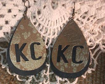 KC Love Leather Earrings