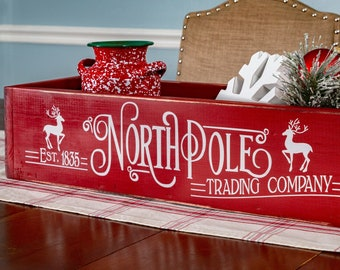 "24"" North Pole, Christmas Centerpiece, Christmas Decorations, Holiday Decor, Christmas Mantle, Christmas Table"