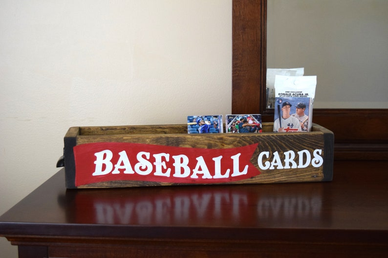Baseball Card Storage Baseball Decor Boys Room Decor Rustic Decor For Boys Room Fathers Day Man Cave Decor Baseball Card Display