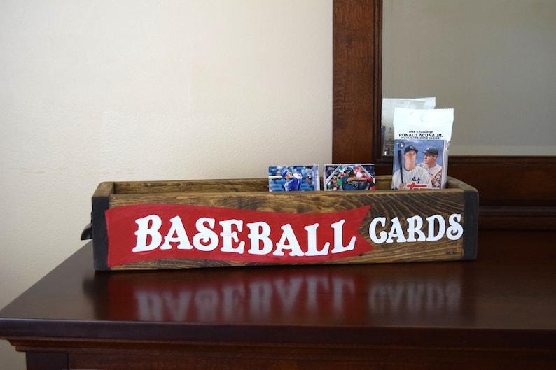 Baseball Card Storage Baseball Decor Boys Room Decor Rustic Decor For Boys Room Fathers Day Man Cave Decor Baseball Card Display