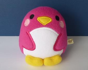 Kawaii Penguin: Hot Pink Very Berry