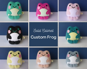 Custom Kawaii Frog - You Choose the Color
