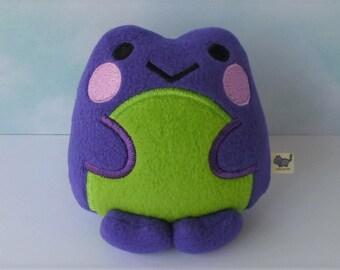 Kawaii Frog: Purple & Lime Green