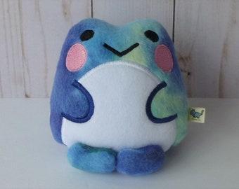 Kawaii Frog: Multicolored Blue & Green