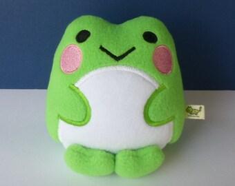 Kawaii Frog: Bright Green