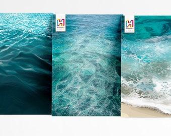 3 x A4 - Art Prints - 'Ocean' Collection