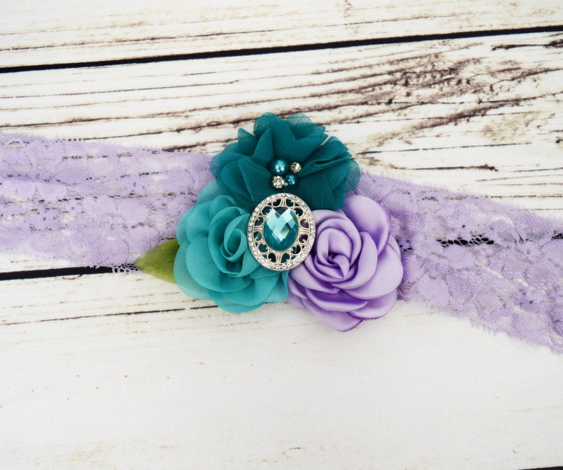 Mermaid Hair Purple and Teal Headband Under the Sea Party image 0