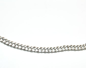 "N291 Vintage Estate Sterling Silver Cable Links Chain Choker Necklace 6 grams 925 16.25"" Long Jewelry Jewellery For Her"
