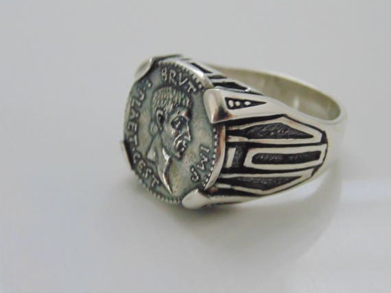 Amazing bijoux en argent Sterling Mens homme Rocker motard   Etsy e11dbb2b3d59