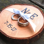 Ring Bearer Pillow, Wedding Ring Pillow, Custom Ring Pillow, Rustic Ring Pillow