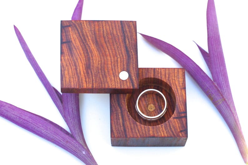 Cocobolo Engagement & Wedding Ring Box  Heirloom Ring Box   image 0