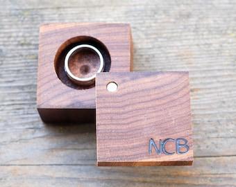 Personalized Wood Ring Box | Anniversary Gift | Custom Ring Holder