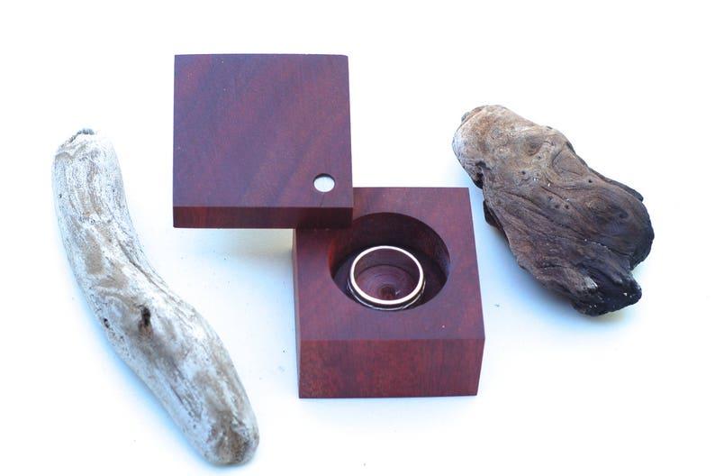 Bloodwood Modern Ring Box  Engagements & Weddings  Heirloom image 0