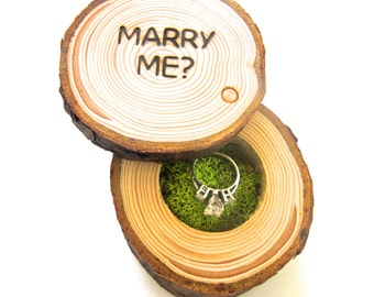 Proposal Ring Box | Wedding Proposal Box | Engagement Ring Box | Rustic Wood Box