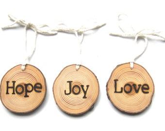 California Wood Christmas Ornaments, Unique Rustic Christmas Ornaments