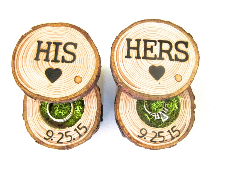 His & Hers Ring Boxes For Wedding Ceremony image 0