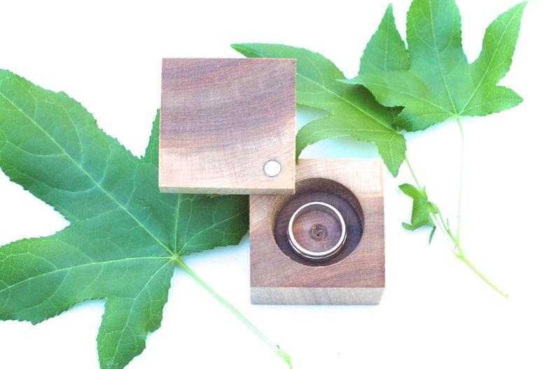 Maple Ring Box  Anniversary Gift  Heirloom Ring Box  image 0