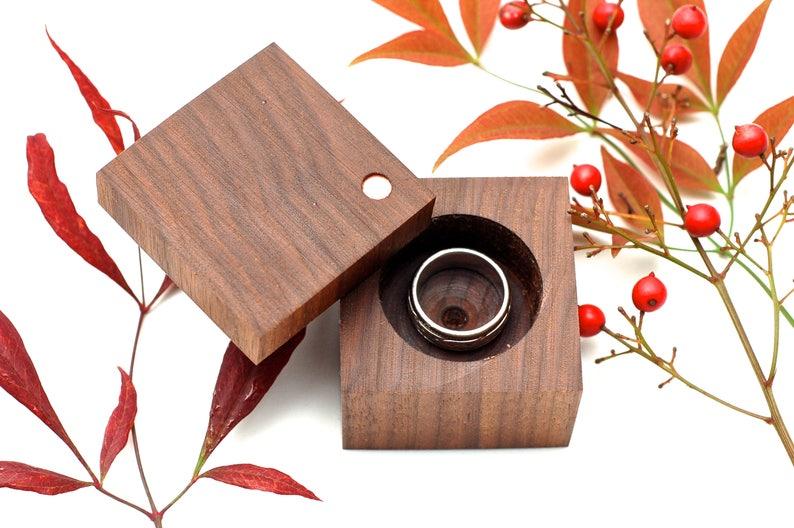 Heirloom Ring Box  Walnut  Engagement & Wedding  Wood Ring image 0