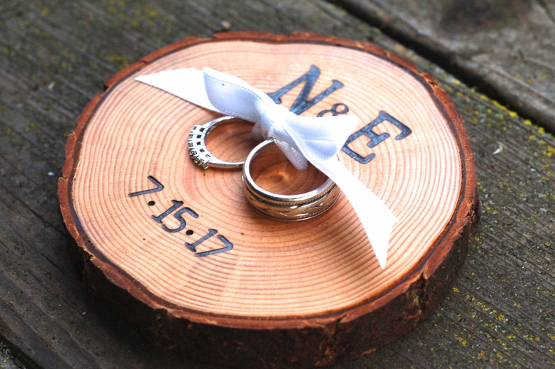 Ring Bearer Pillow Wedding Ring Pillow Custom Ring Pillow image 0