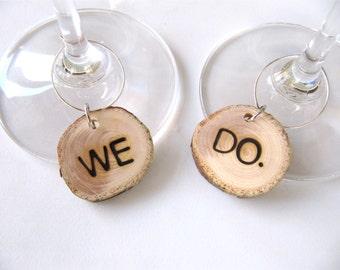 Custom Wine Charm, Personalized Wine Charm, Wedding Wine Charm, Reclaimed Wood Cedar