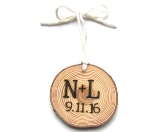 Personalized Christmas Ornament, Our First Christmas Ornament, Custom Christmas Ornament, Wood Burned Ornament, Wedding Ornament