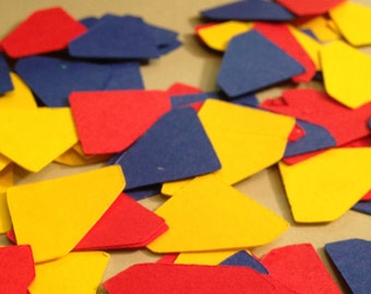 Superman themed confetti, 150 pieces, Superman party, Superman Birthday