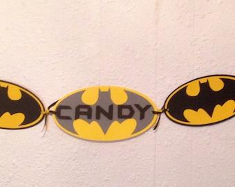 Batman Birthday banner, Batman birthday party