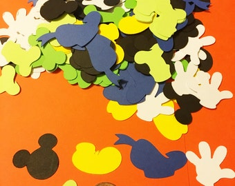 Clubhouse Confetti, Table embellishment, Mickey party, Disney themed party