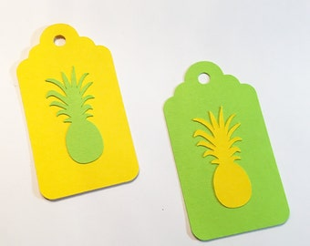 20 Pineapple thank you tags, Pineapple party, luau themed party