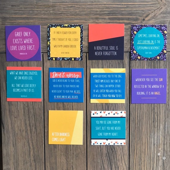 Pack of 10 Inspirational grief cards, encouraging notes, quote cards,  encouragement for a friend, hostess gift, thankyou gift, teacher gift