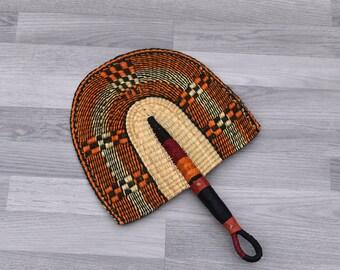 Ghana fan hand fan Bolga fan Wicker Fan Wall Hanging Tropical Straw Fan Bolga Straw fan Wedding fan Wall D\u00e9cor African Fan