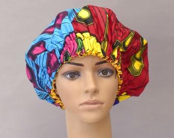Bonnet imprimé africain, Bonnet de doublé Satin, Satin Hair bonnet, bonnet  Ankara, Satin doublé dormir Bonnet, chapeau de sommeil