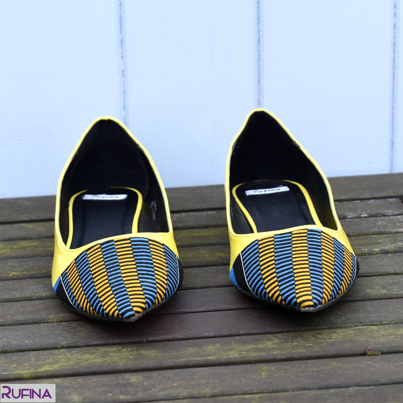 yellow womens flat shoes, kente flat shoes, ballet flats shoes, yellow bridal flat shoes, ankara pumps, yellow ballerina shoes (