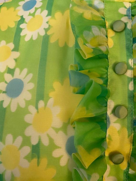 Funky Vintage Floral 60s/70s Dress - image 3