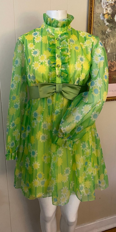 Funky Vintage Floral 60s/70s Dress - image 1