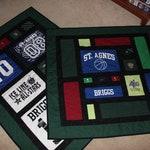 2 x Mosaic Style t-shirt quilt- Bonnie