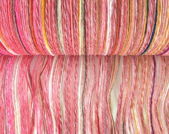 "SAORI Wool Warp Roller ""Peach Sanguria""  200 threads x 6 meters"