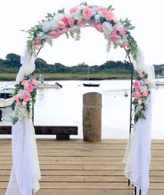 Wedding Arch Swag Pink And White Rose Swag Wedding Swag Wedding Arbor Decorations Wedding Decorations Wedding Table Centerpiece
