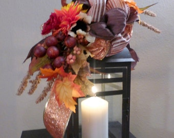 Lantern swag - Fall Lantern Swag - Thanksgiving decorations - Fall centerpiece - candle arrangement - Fall wedding Decorations - Fall Colors